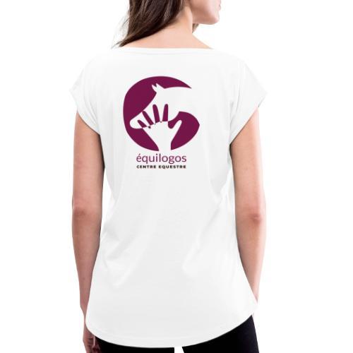 Logo Equilogos centre équestre noir - T-shirt à manches retroussées Femme