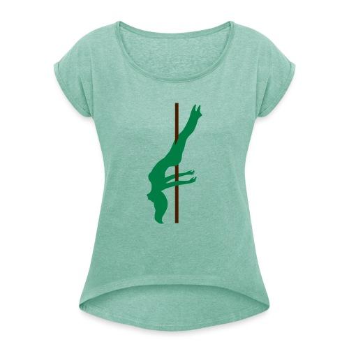 Pole Dance Pole Dancing - Maglietta da donna con risvolti