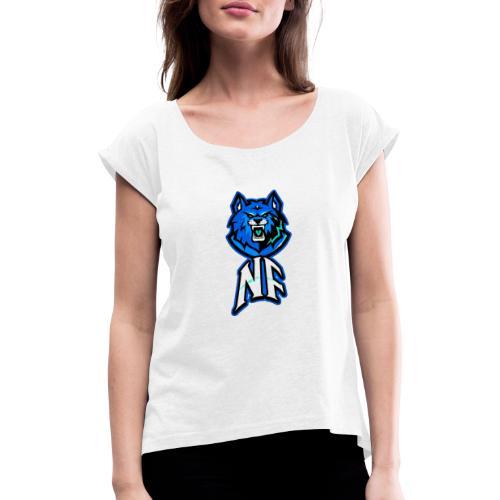 Noah Fortes logo - Vrouwen T-shirt met opgerolde mouwen