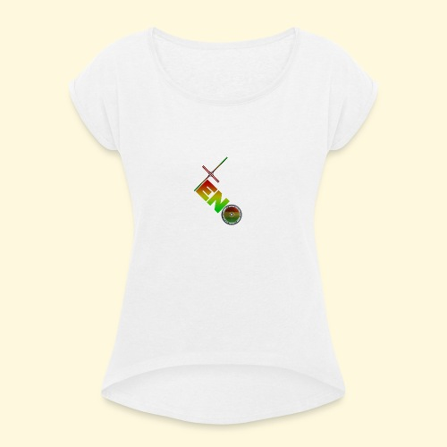 Scooter Logo - Rasta - Women's T-Shirt with rolled up sleeves