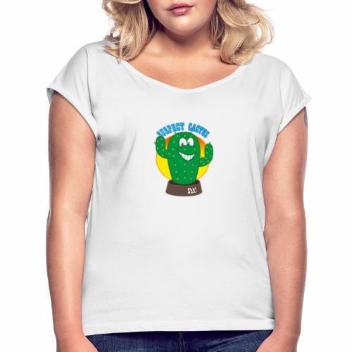 D8BC58D122814CAC902D9BB845358AD7 - Women's T-Shirt with rolled up sleeves