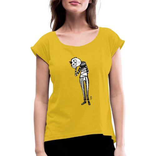 Punto di vista in bianco e nero - Maglietta da donna con risvolti