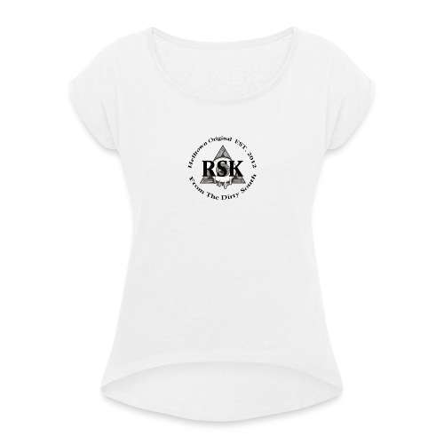 RSK Original - T-shirt med upprullade ärmar dam