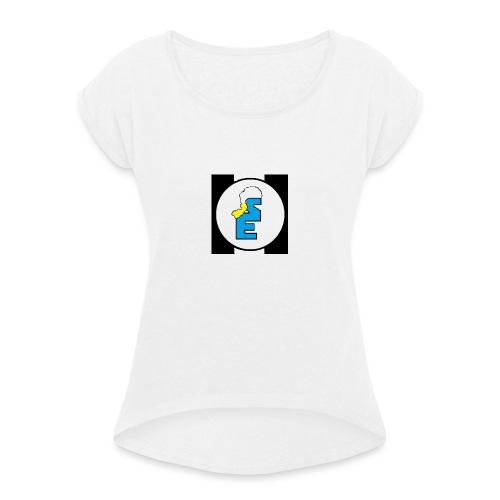 SmurfEline - Vrouwen T-shirt met opgerolde mouwen