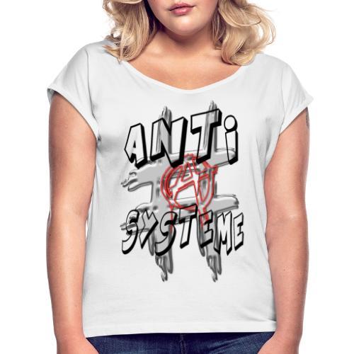 H-Tag Anti Système - T-shirt à manches retroussées Femme