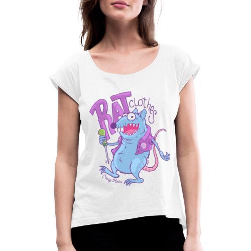 RAT clothes - Frauen T-Shirt mit gerollten Ärmeln