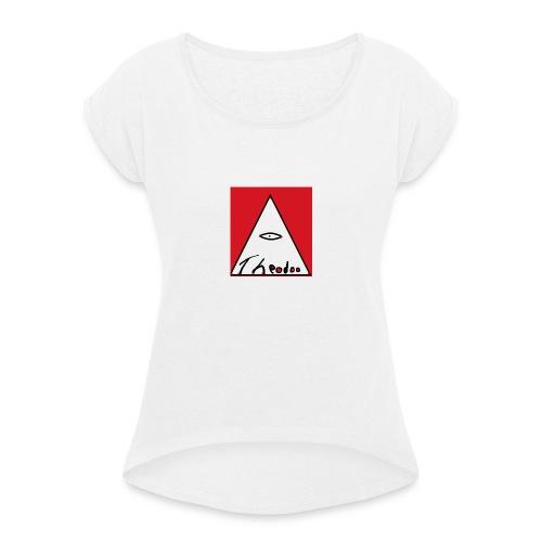 theodoo 1 - T-shirt med upprullade ärmar dam