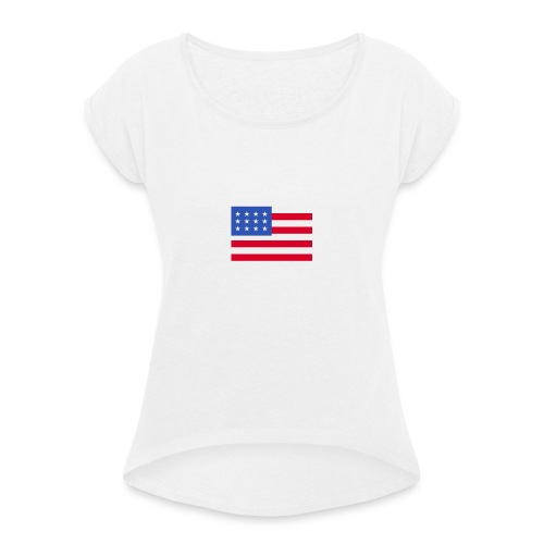 United States of America - Frauen T-Shirt mit gerollten Ärmeln