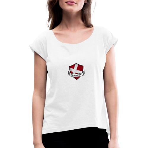 DanishRP Old Logo - Dame T-shirt med rulleærmer
