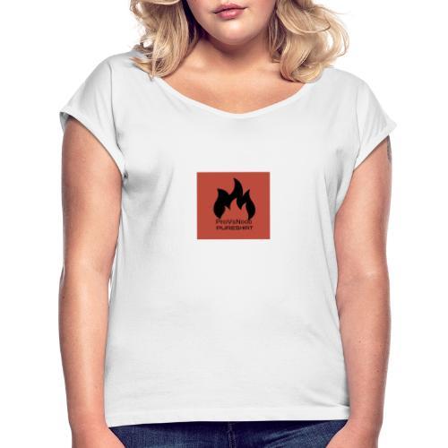 PureShirt ProVsNoob - Frauen T-Shirt mit gerollten Ärmeln