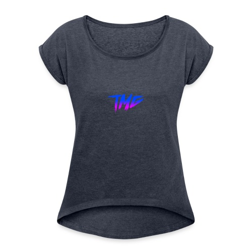tmg logo - Women's T-Shirt with rolled up sleeves