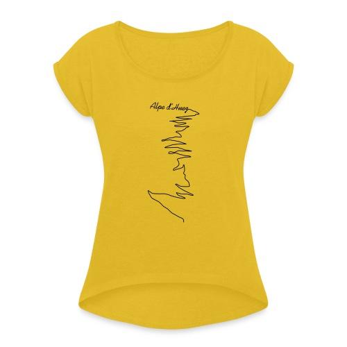 Alpe d'Huez - Frauen T-Shirt mit gerollten Ärmeln