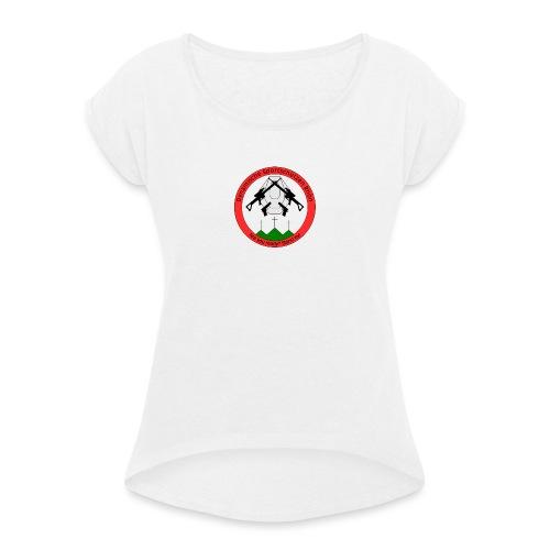 Logo Dynamische Sportschuetzen Rhoen DSR - Frauen T-Shirt mit gerollten Ärmeln