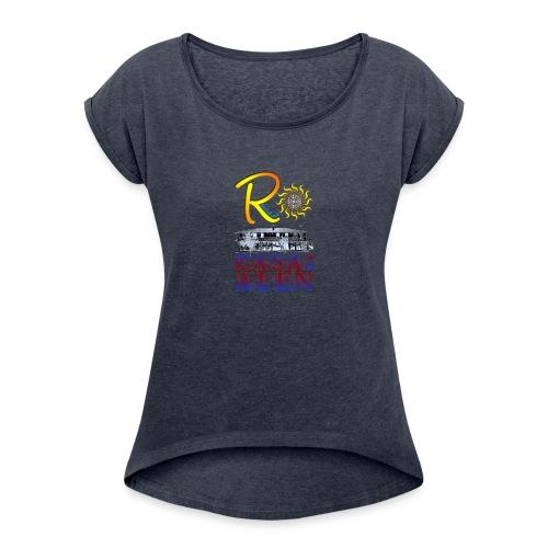 RESOLAINA - Camiseta con manga enrollada mujer