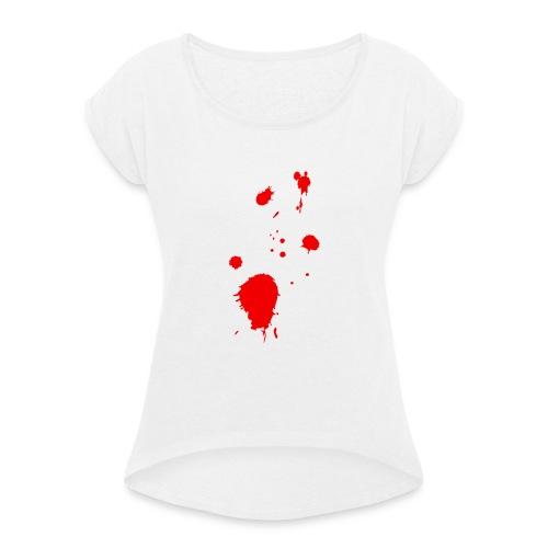 blut - Frauen T-Shirt mit gerollten Ärmeln