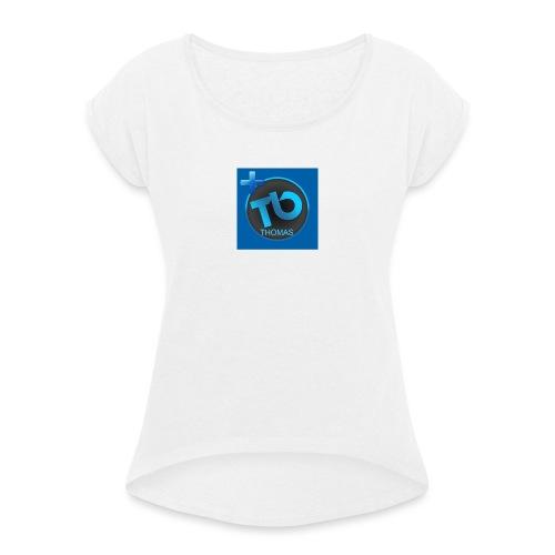 TB-SPORTZAK - Vrouwen T-shirt met opgerolde mouwen