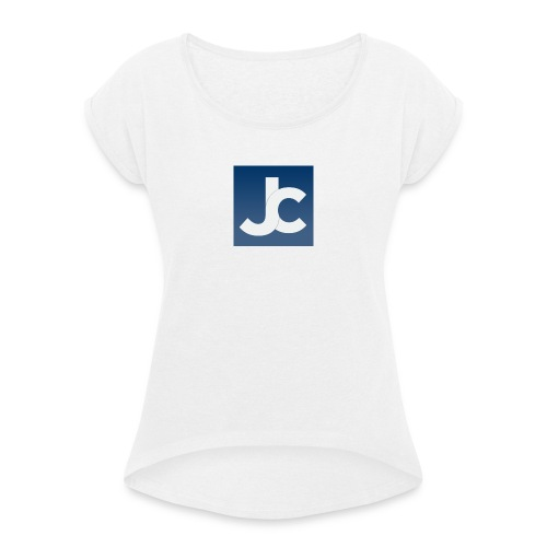jc_logo - Women's T-Shirt with rolled up sleeves
