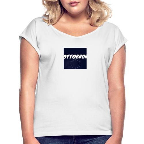 Ottobror - T-shirt med upprullade ärmar dam