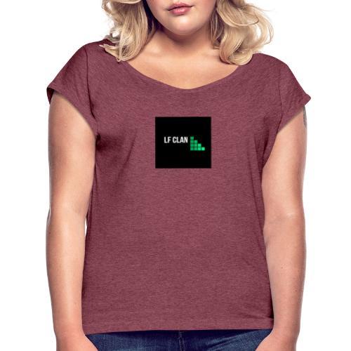 LF CLAN - T-shirt med upprullade ärmar dam