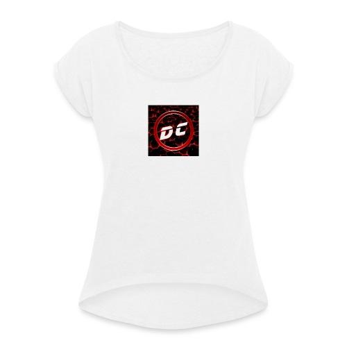 den clan - Vrouwen T-shirt met opgerolde mouwen