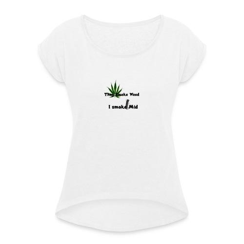 Greenkush Counter Strike style - T-shirt med upprullade ärmar dam