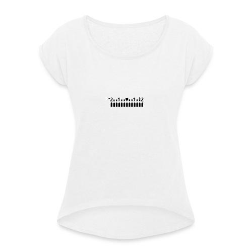 Manuell - Frauen T-Shirt mit gerollten Ärmeln