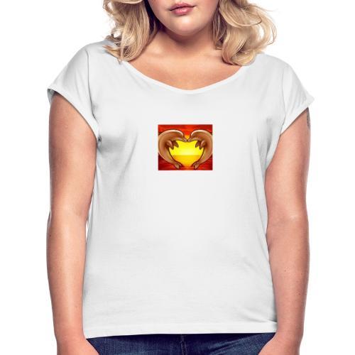 IMG 20191003 WA0007 - Frauen T-Shirt mit gerollten Ärmeln