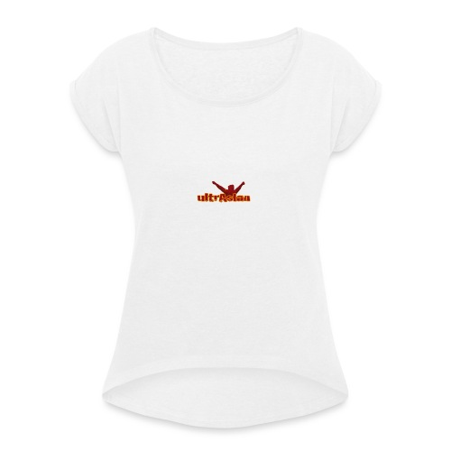 ultrAslan standard - Vrouwen T-shirt met opgerolde mouwen