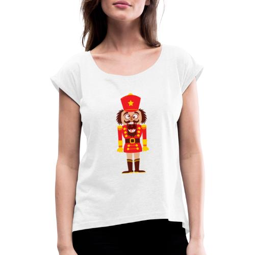 A Christmas nutcracker is a tooth cracker - Women's T-Shirt with rolled up sleeves
