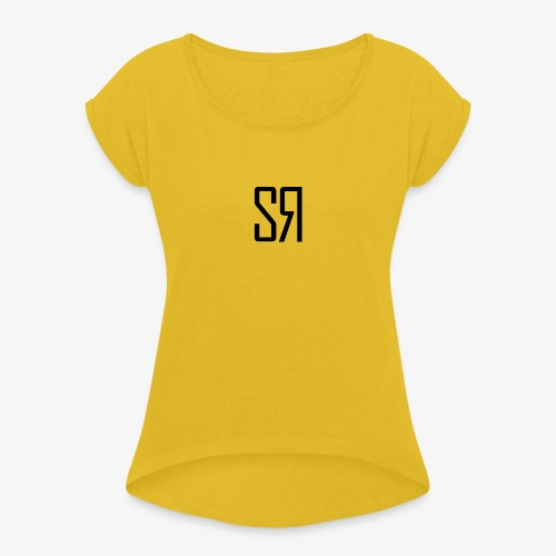 Black Badge (No Background) - Women's T-Shirt with rolled up sleeves