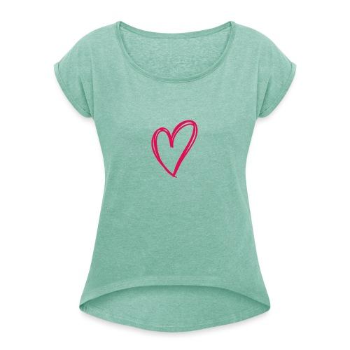 hartje03 - T-shirt à manches retroussées Femme