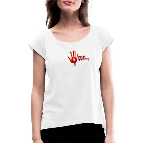 bloody hand - Frauen T-Shirt mit gerollten Ärmeln