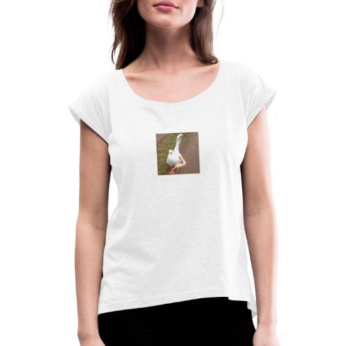 jajajajajajajaja - Women's T-Shirt with rolled up sleeves