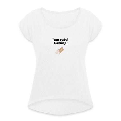 FG-12 - T-skjorte med rulleermer for kvinner
