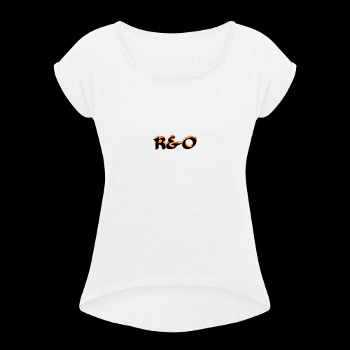 R&O - Women's T-Shirt with rolled up sleeves