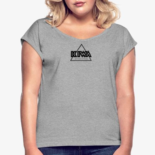 KIWA Satisfiction Black - Women's T-Shirt with rolled up sleeves