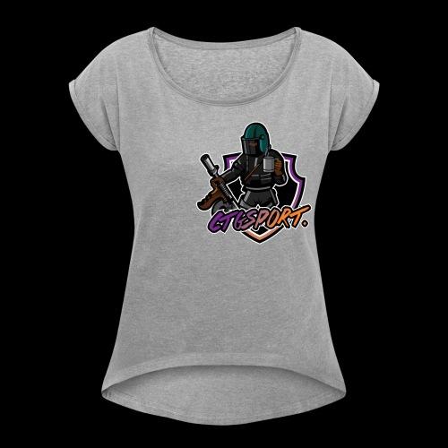 ''Ctgsport'' - Vrouwen T-shirt met opgerolde mouwen