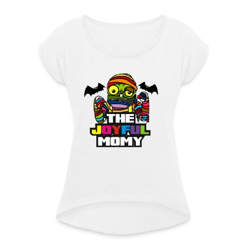 MOMIA - Camiseta con manga enrollada mujer
