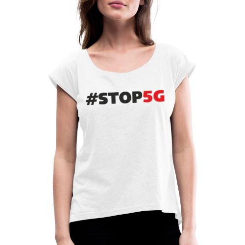 Stop5G linea logo - Maglietta da donna con risvolti