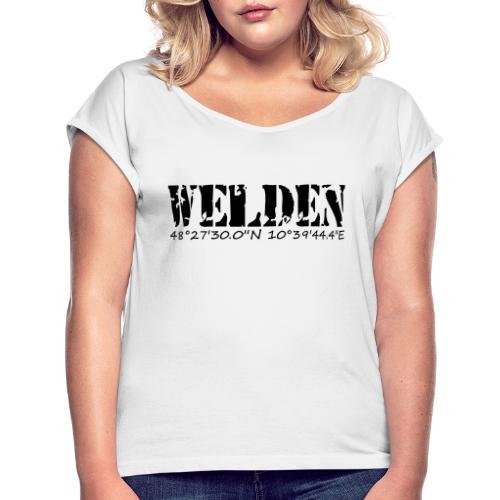 WELDEN_NE - Frauen T-Shirt mit gerollten Ärmeln