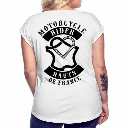 Motorcycle Rider Hauts-de-France 'Flag' - T-shirt à manches retroussées Femme