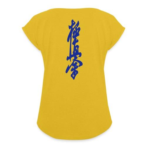 KyokuShin - Vrouwen T-shirt met opgerolde mouwen