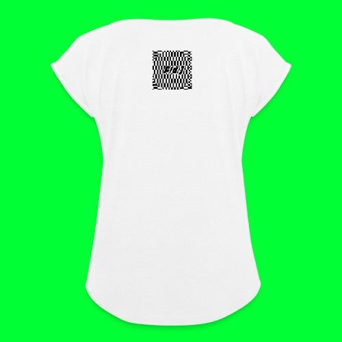 Fld.) »lux def« ; (Lux Def, Lux-Def (…)) ‒ glitch - Frauen T-Shirt mit gerollten Ärmeln