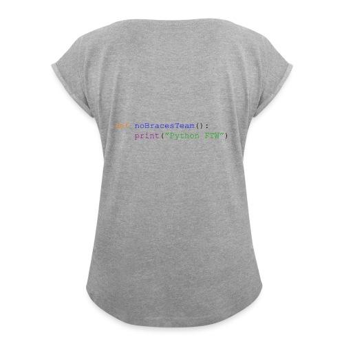 No Curly Braces Python - Maglietta da donna con risvolti
