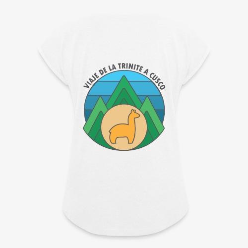 Viaje de la trinité - T-shirt à manches retroussées Femme