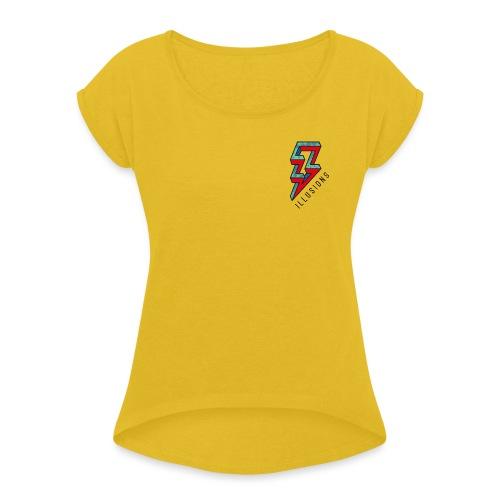 ♂ Lightning - Frauen T-Shirt mit gerollten Ärmeln