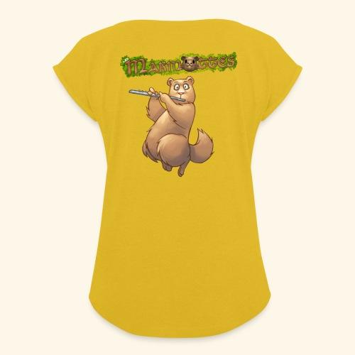Tshirt Flute dos 2 - T-shirt à manches retroussées Femme