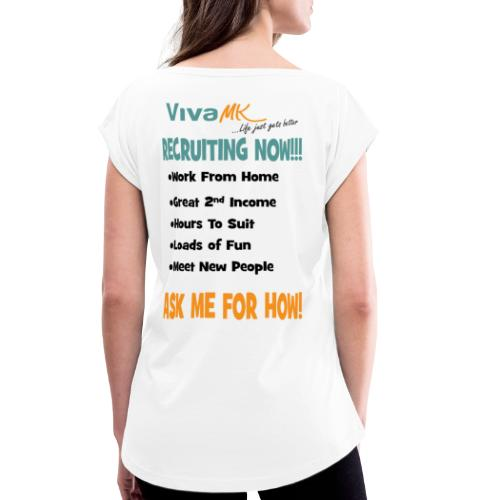 Recruiting 2 - Women's T-Shirt with rolled up sleeves
