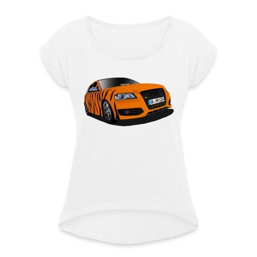 Tiger - Frauen T-Shirt mit gerollten Ärmeln