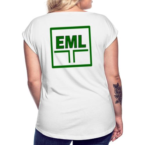 Essexcare logo - Women's T-Shirt with rolled up sleeves